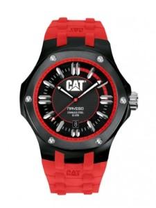 jam CAT merah hitam